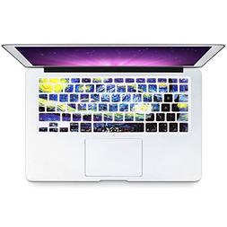 HRH English Silicone Keyboard Cover Skin for MacBook Air 13,