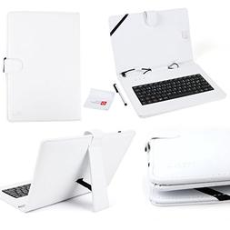 DURAGADGET Faux Leather Case / Cover in Brilliant White With