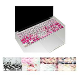 floral pattern silicone keyboard cover for macbook