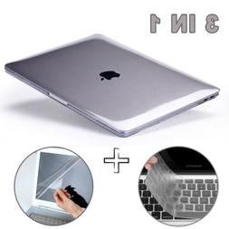Glossy Clear Hard Shell Case Keyboard Cover LCD For MacBook