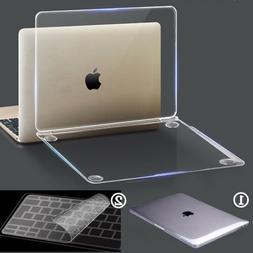 Glossy Clear Rugged Hard Case+Keyboard Cover for Mac MacBook