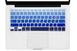 HRH Ombre Blue Korean Language Keyboard Cover Silicone Skin