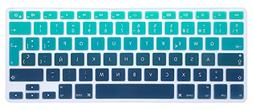 HRH Gradient Green Spanish Keyboard Cover Silicone Skin for