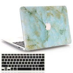 Green Marble Hard Case + Keyboard Cover For Macbook Air 13 i