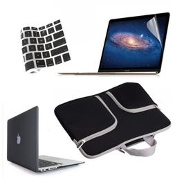 Hard Case Shell+Carry Bag+Keyboard Cover+LCD Film Set for Ma