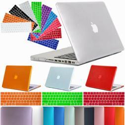 Hard Rubberized Laptop Shell Case + Keyboard Cover For Apple