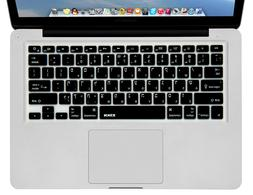 XSKN Hebrew / English Black Silicone Keyboard Skin Cover for