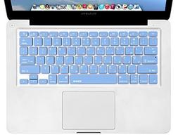 XSKN Hebrew Language Blue Color Silicone Keyboard Skin Cover