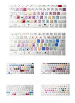 HOt Metal Brushed Shortcut keys Keyboard Cover Skin For Macb