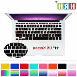 HRH Korean Language Keyboard Cover Protector Silicone Skin P