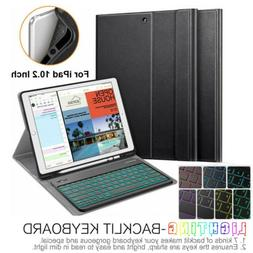 "For iPad 10.2"" 7th Gen 2019 Case TPU Cover w/ 7 Color Backli"