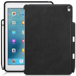 KHOMO - iPad Pro 10.5 Inch Black PU Leather Case With Pen Ho
