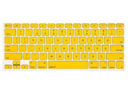 Kuzy YELLOW Keyboard Cover Silicone Skin for MacBook Pro 13""