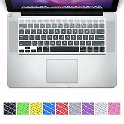 DHZ Big Font Gray Gradient Keyboard Cover Silicone Skin for