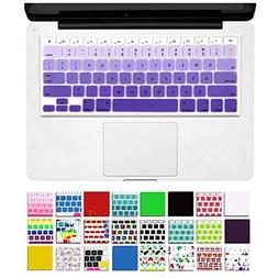 DHZ Purple Gradient Keyboard Cover Silicone Skin for 2015 or
