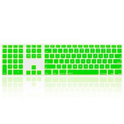Kuzy - Full Size GREEN Keyboard Cover Skin Silicone for Appl