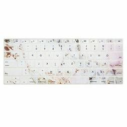 Keyboard Cover with Pattern Compatible 13/15 Inch MacBook Ul