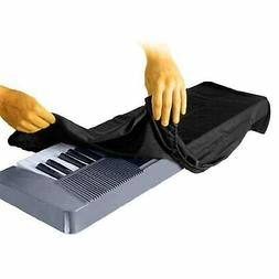 On-Stage Keyboard Dust Cover for 61 or 76 Key Keyboards, Bla