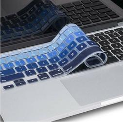 Kuzy Keyboard Mix BLUE Ombre Silicone Cover Skin MacBook Pro