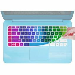 "5 Pieces Keyboard Rainbow Cover Compatible HP Stream 14"" Lap"