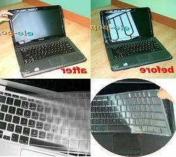 Keyboard Skin + 15.6'' Anti-glare Screen Protector Cover for