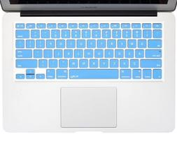 "Kuzy Keyboard SKY BLUE Silicone Cover MacBook Pro 13"" NEW"