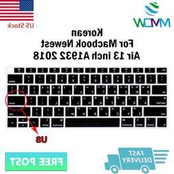 Korean Language Silicone Keyboard Cover Skin For Macbook New