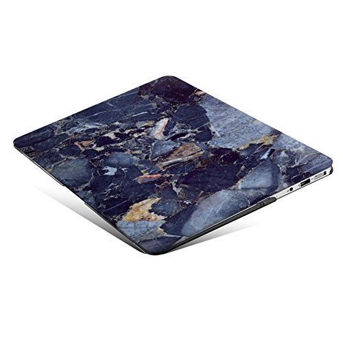 MacBook Case, Hard Keyboard Cover Macbook 13 , Navy Marble
