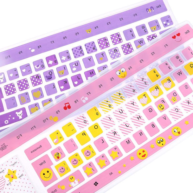 1PC colorful desktop keyboard cover skin protecto