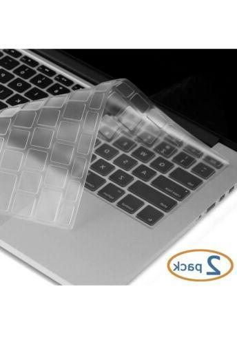 """2 Keyboard Cover Skin Apple 15"""""""