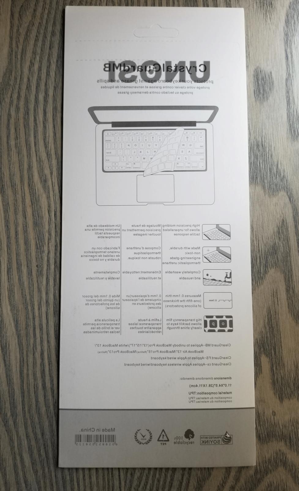 Waterproof Clear Keyboard Cover Skin Macbook Pro Bar