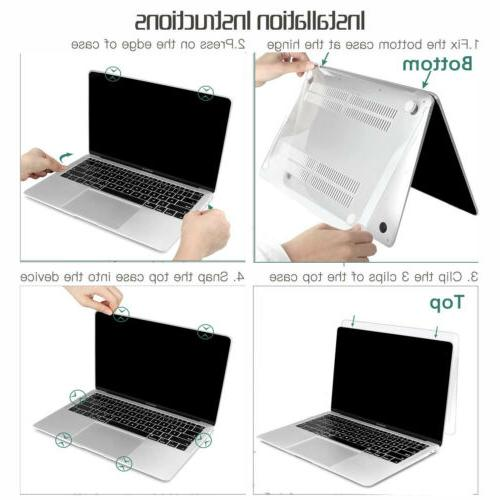 2020 Macbook 13 Inch Hard Case Screen Protector A2179