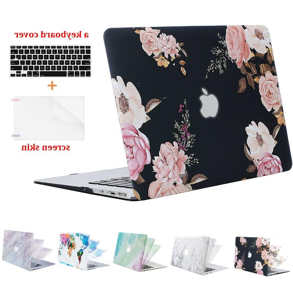 Mosiso 3 in 1 Hard Shell Case for Macbook Air 13 13.3 w Sili