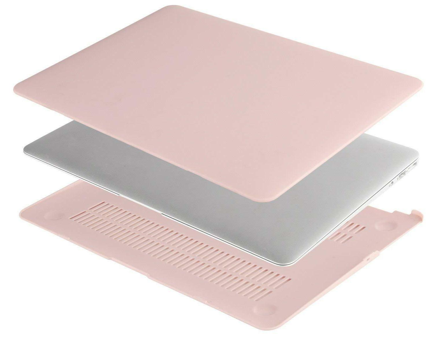 Mosiso 3 Pink Hard Cover for Macbook A1466/A1369 cover