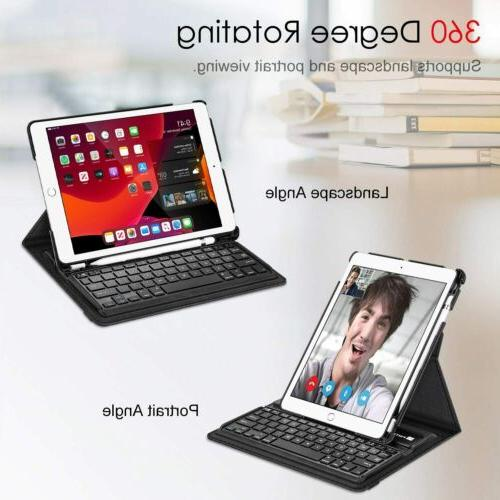 360 Rotating Bluetooth Keyboard Cover For iPad 8th 2020