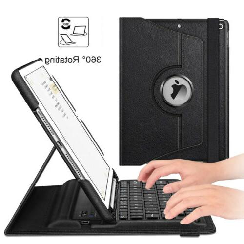 360 rotating wireless bluetooth keyboard case cover
