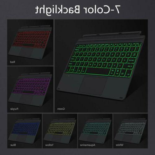 MoKo 7-Color LED Backlit Bluetooth Keyboard Type Cover for M