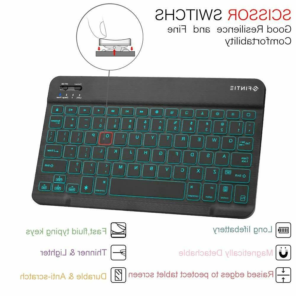 7 Colors Backlight Keyboard For iPad Pro inch 2018 Slim