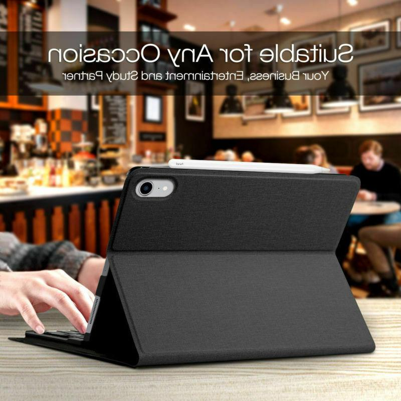 """7 Colors Smart Keyboard 12.9"""" inch 3rd Gen Stand Case Cover"""