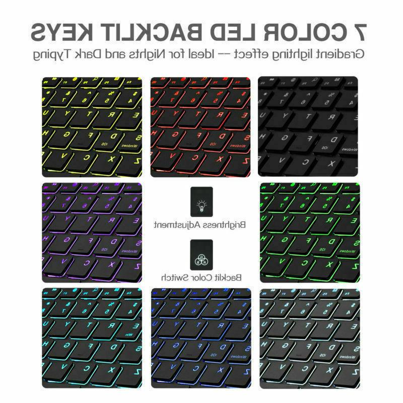 """7 Colors Keyboard For 12.9"""" inch 3rd Stand Cover"""