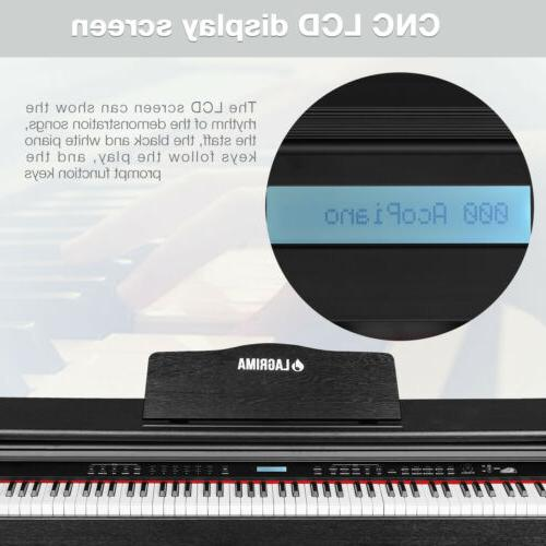 88 Key LCD Piano w/Sliding Cover+Adapter+3Pedal
