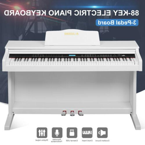 88 Weighted Keyboard w/Pedal+Cover+Stand