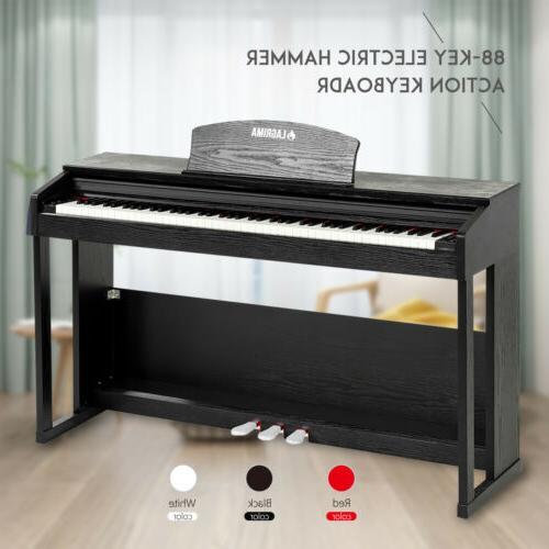 88 key lcd electric digital piano hammer