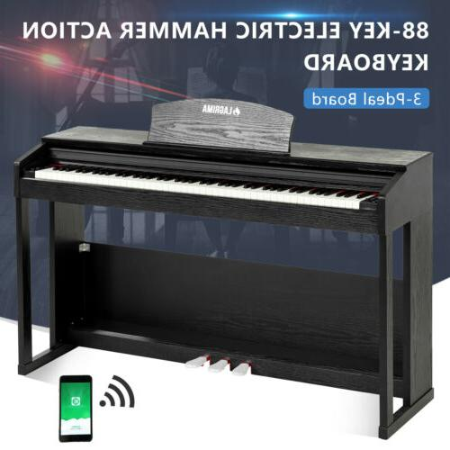 88 Key Music Weighted Keyboard w/Pedal+Cover+Stand