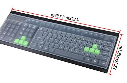 Clear Desktop Keyboard Cover 104/107 Standard Keyboard, Anti Dust Waterproof Keyboard Protective Skin