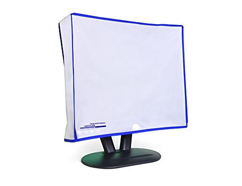 Computer monitor dust cover for flat panel LCD-silky smooth