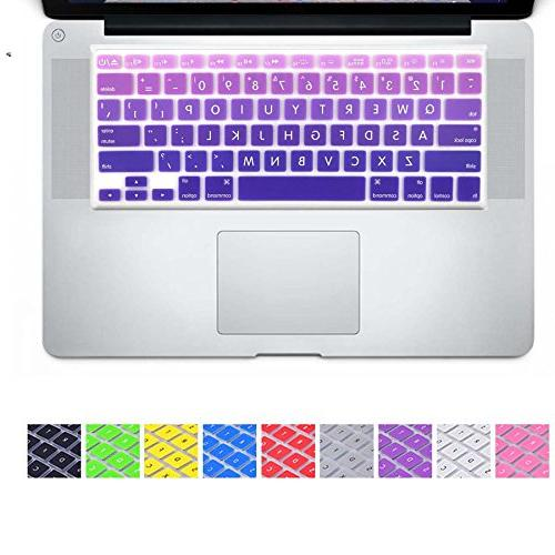 DHZ Big Font Violet Gradient Keyboard Cover Silicone Skin fo