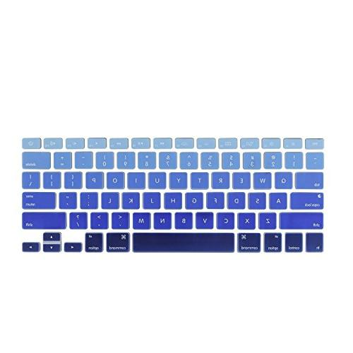 DHZ Light Blue Keyboard Cover Silicone Skin for 2015 or Version Air MacBook 13 inch