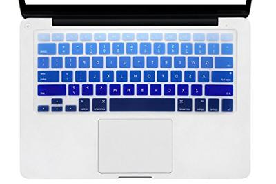 DHZ Light Blue Gradient Keyboard Cover Silicone Skin for 201