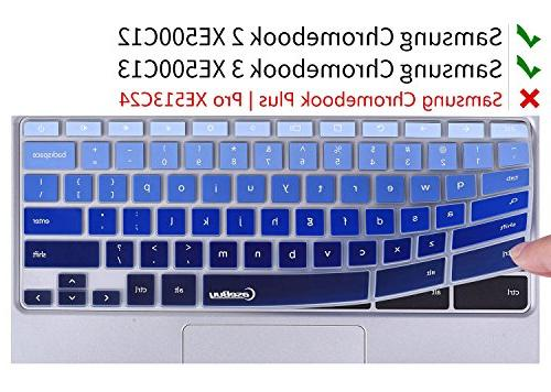 "Keyboard Cover Compatible Samsung 3 XE500C13 11.6-inch/Samsung XE500C12 11.6 Chromebook Plus V2 2-in-1 12.2"","